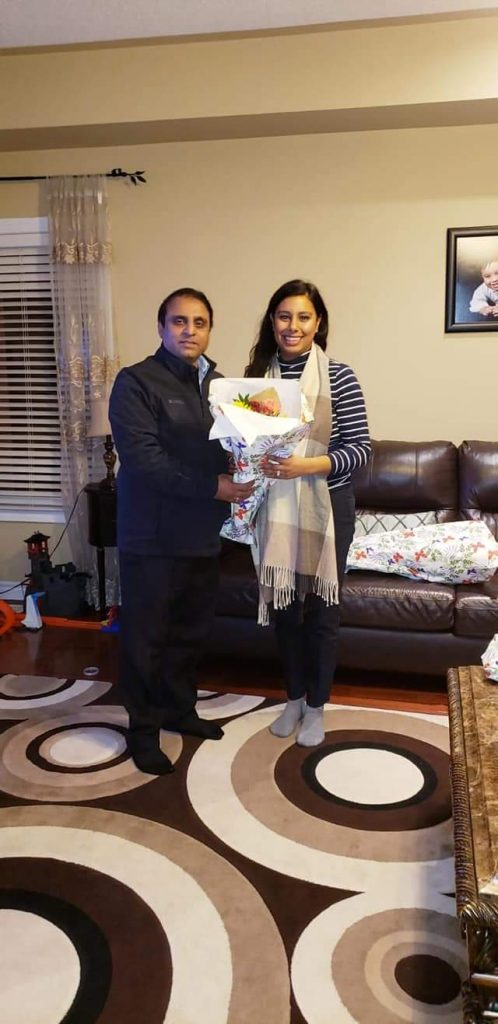 Pleasure to meet Hon Ruby Sahota at her Residence with great leaders of Muslim community of Brampton Nasir Shah to Congratulate her for getting Re-Elected as a Member of Parliament for Brampton North